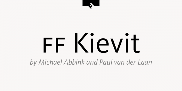 The FF Kievit font family was created by American type designer Michael Abbink and Paul van der Laan in 2001.