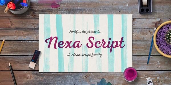 The Nexa Script font family from Fontfabric.