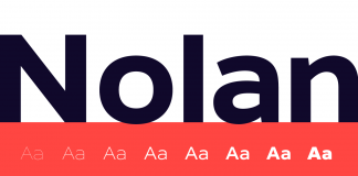 The Nolan font family by Galin Kastelov is a sturdy and geometric sans serif typeface in 8 weights plus true italics.