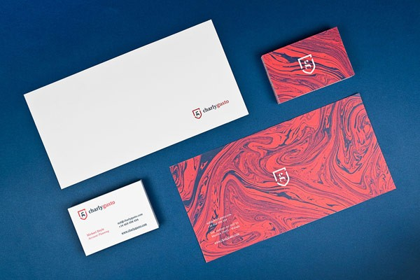 Charly Gusto corporate design developed by Mubien Studio.
