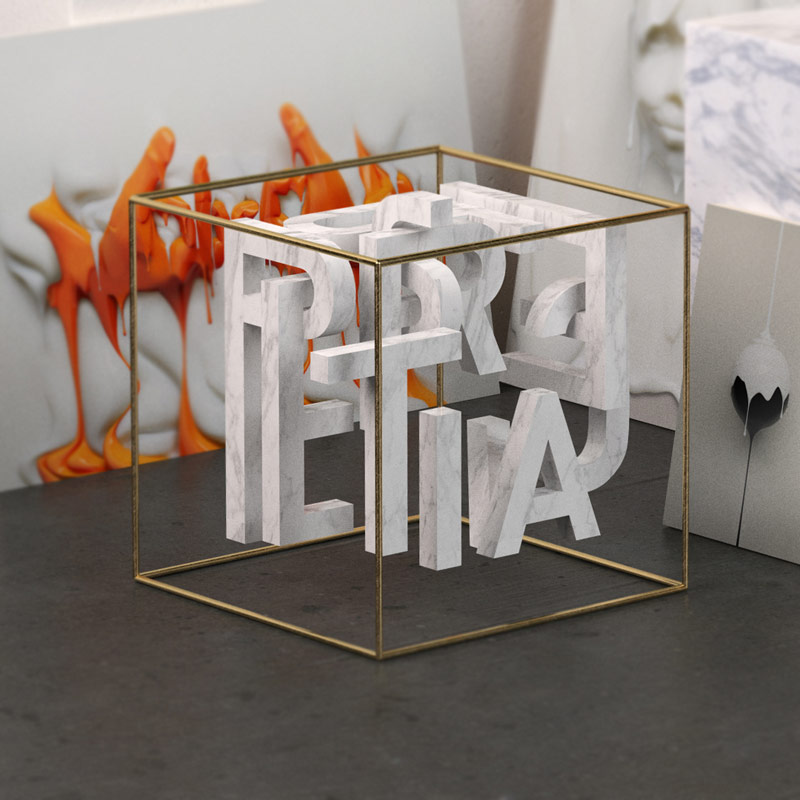 3D lettering created by studio TAVO.