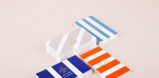 Colorful designed business cards.