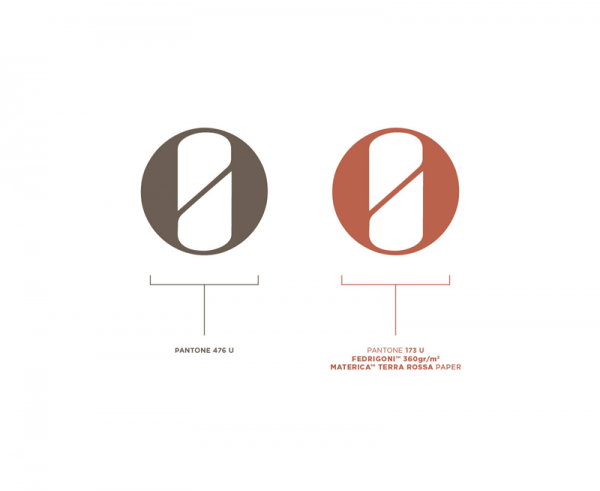 Logo – the color scheme of the entire brand identity is mainly based on two colors Pantone 476 U and Pantone 173 U.