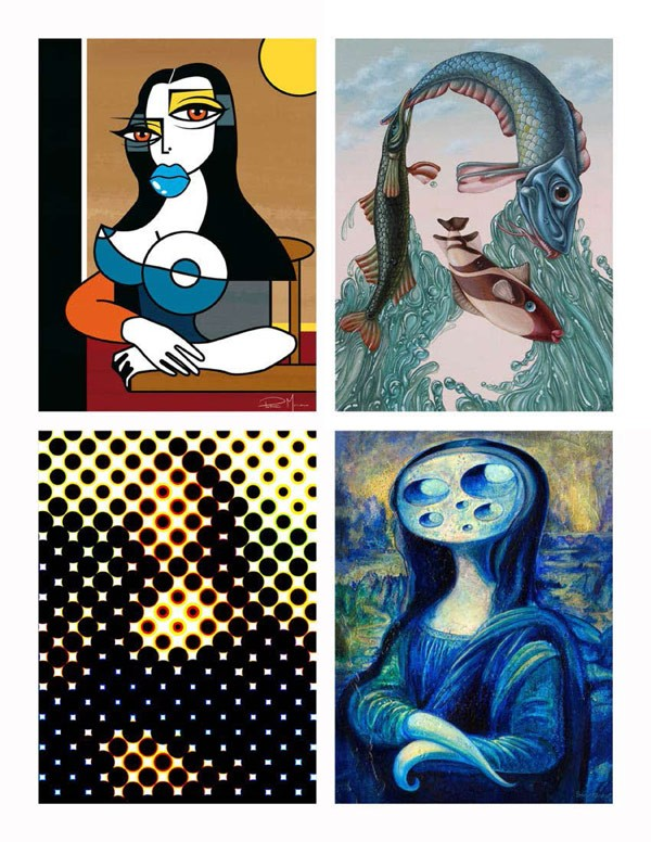 Mona Lisa reimagined by different illustrators and artists from all over the world.