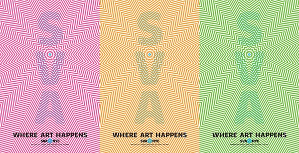 Where Art Happens SVA Subway Poster Series – design by  Mirko Ilic for School of Visual Arts.