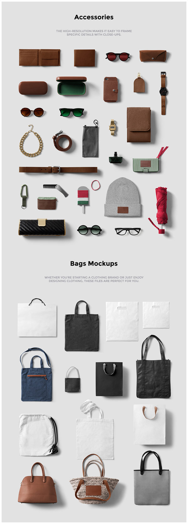 Lots of accessories and bags.