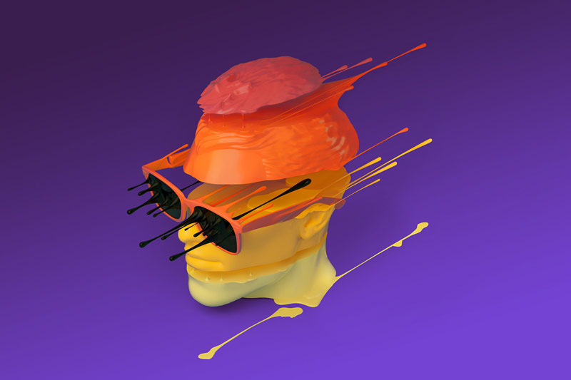 Colorful 3D modeling.
