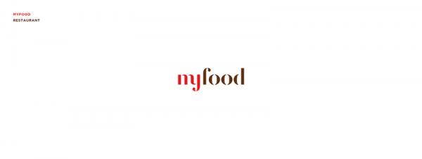 MyFood restaurant – logo design by Eszti Varga.