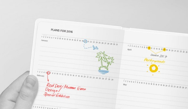 The Levsha diary includes different sections such as space for personal data, notes or a calendar section.