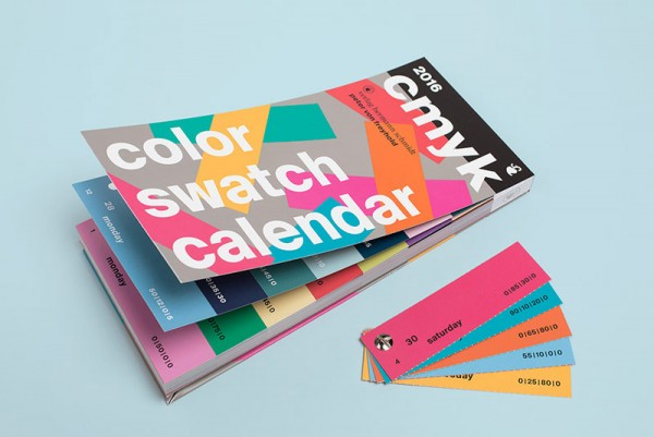 The third edition of the popular CMYK color swatch calendar from Peter von Freyhold.