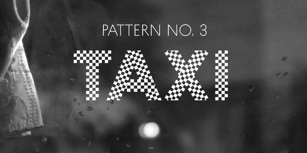 A checked typeface, this is number 3.