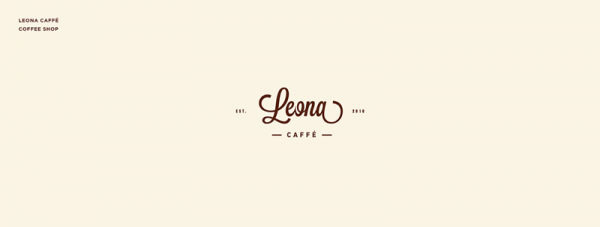 Leona Caffé – coffee shop – Graphasel Design Studio logofolio.