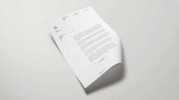 Simple and clean stationery design.