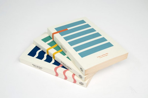 Three cover designs by Kajsa Klaesén for the books with the titles To Have and Have Not, The Old Man and the Sea and Islands in the Stream.