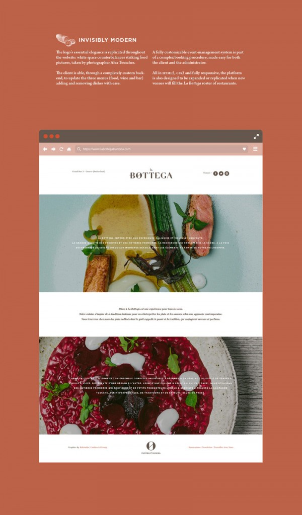 Simple and clean web design.