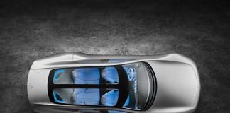 The top view of the Mercedes-Benz IAA Concept Car.