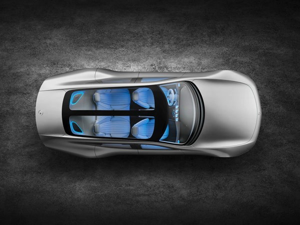 The top view of the Mercedes-Benz IAA Concept Car.