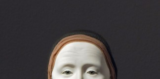 A hyperreal sculptural portrait by artist Elizabeth King.