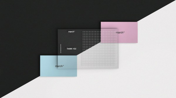 March studio brand identity design by Zivan Rosic.