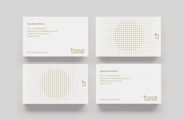 Well designed business cards.