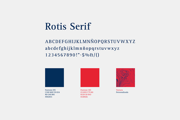Corporate typeface and corporate colors.