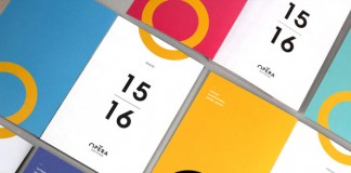 The colorful printed collateral.