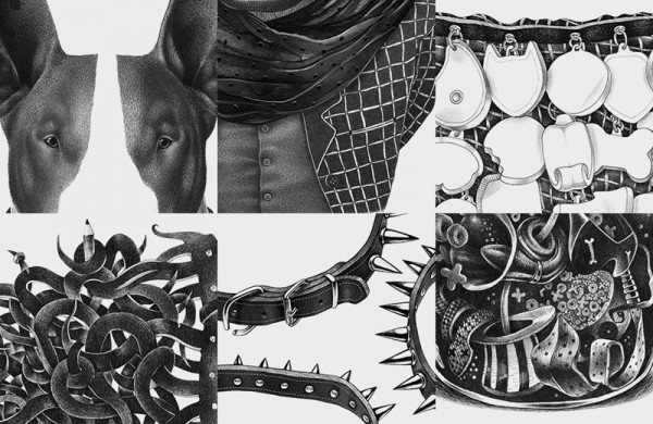 Some close ups of the drawings created by Lesha Limonov.