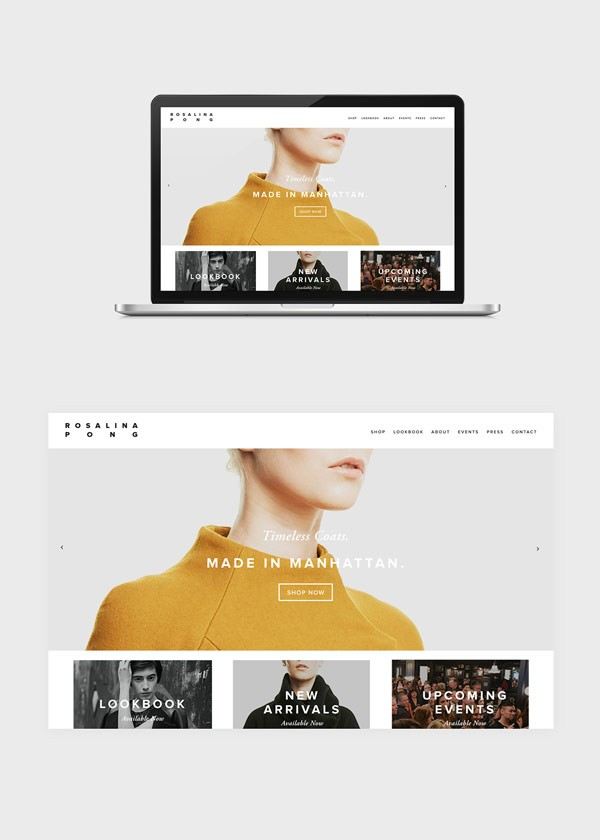 The new responsive website includes an online shop.