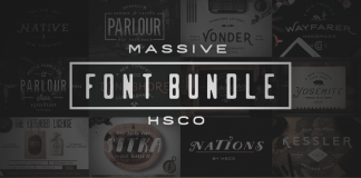 A massive font bundle from Hustle Supply Co. This offer is available only for a limited time.