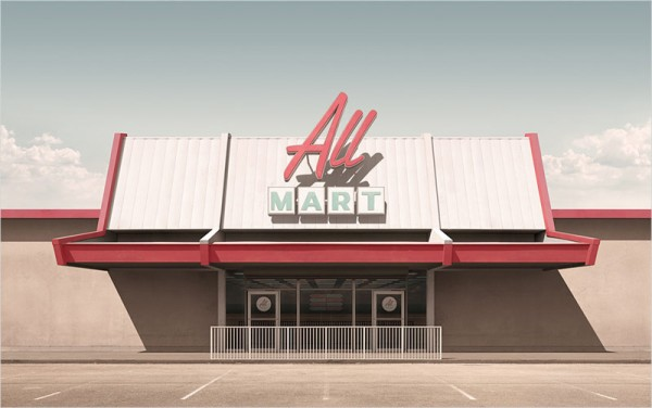 All Mart – limited edition print by Geebird&Bamby.