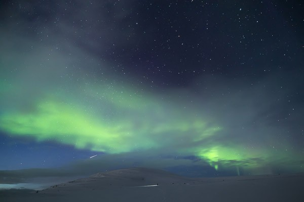Aurora Borealis on the Arctic sky.
