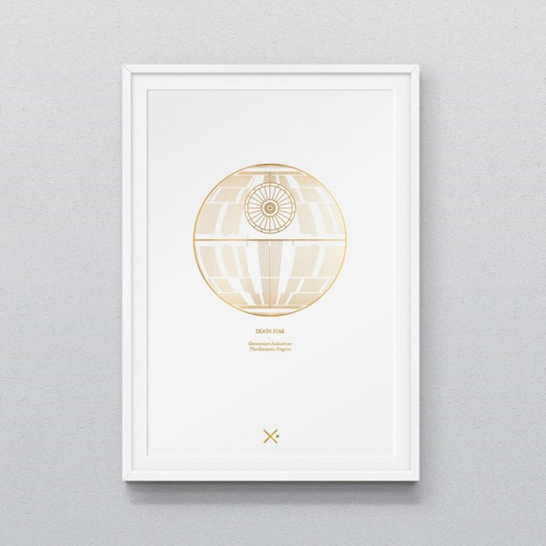Death Star A3 Print – numbered and limited to a run of 75 fine art prints.