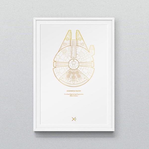 Millennium Falcon – A3 poster design.