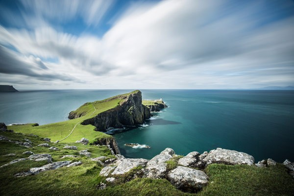 Neist point – coastline with cliffs at the north of the Isle of Skye.