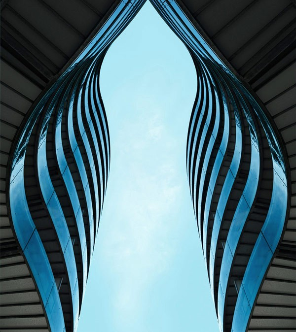 Organic architectural shapes.