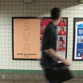"""SVA Subway Poster Series – """"Where Art Happens"""""""
