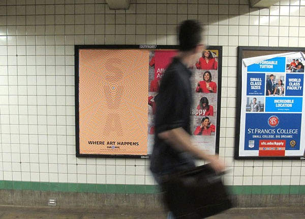 School of Visual Arts – poster advertisement in the New York subway.