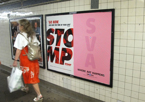 The poster advertising in the New York subway.