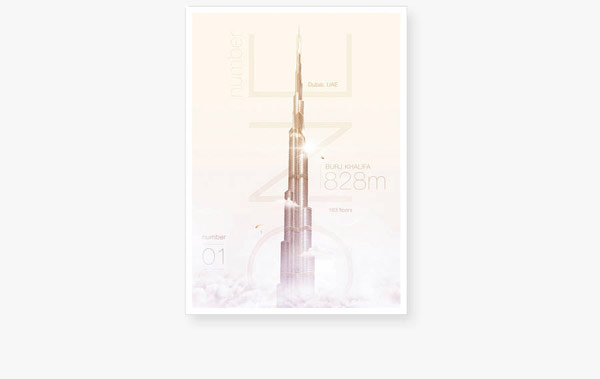 The Burj Khalifa poster.