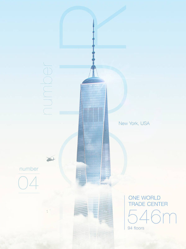 One World Trade Center, 546m, 94 floors