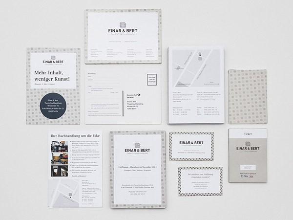 Einar & Bert – corporate identity, graphic design, and stationery system designed by Jonas Söder.