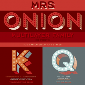 Mrs Onion – Multilayer Type Family