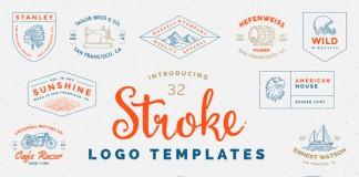 Stroke logo templates by Victor Barac.