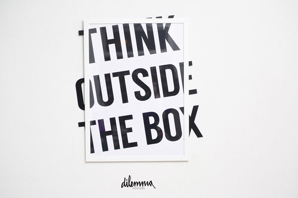 The dilemma posters project includes a fine collection of typographic prints based on different quotes