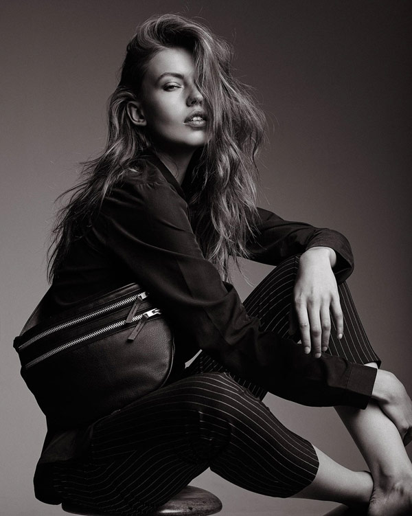 Black and White fashion shooting for the A/W 2015 campaign for Danish bag designer Christina Fischer.