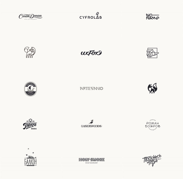 Part two of the logos from 2014 - 2015 created by Igor Hrupin, a Moscow, Russia based graphic designer.