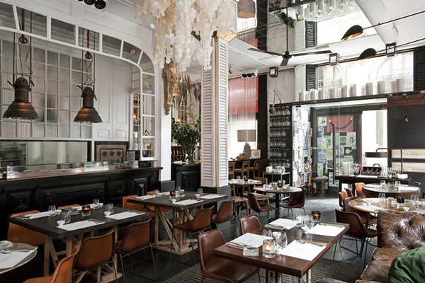 The restaurant interior offers a classic and luxurious look.