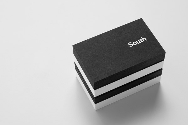 Minimalist business card design.