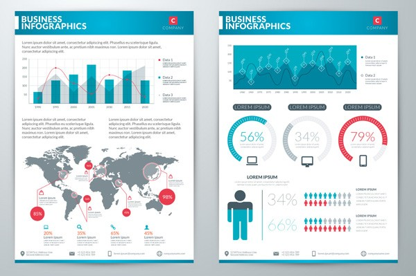 The infographics are available as layered Ai and EPS  files.