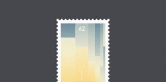 Graphic design for a series of letter-inspired stamps.